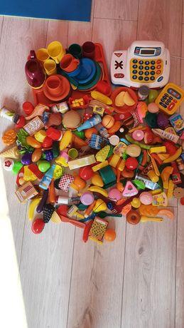 Большой набор (посуда,касса,продукты,игрушечная еда)