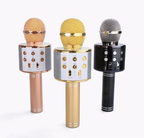 Беспроводной караоке микрофон WSTER WS-858 bluetooth USB aux