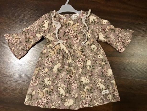Newbie sukienka króliczki króliki 80