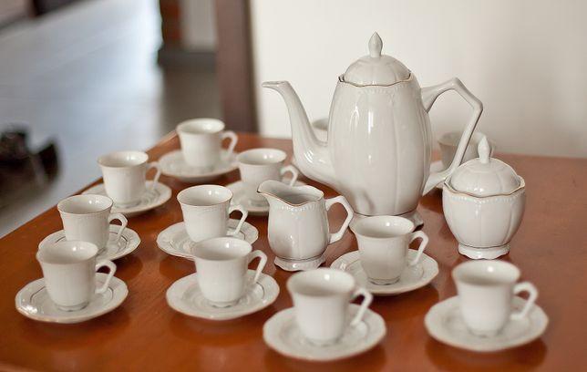 Zestaw porcelanowy do kawy dla 12 osób