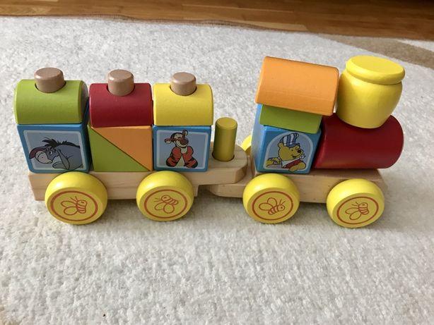 Melissa&Doug, дерев'яний потяг, деревянный поезд, конструктор