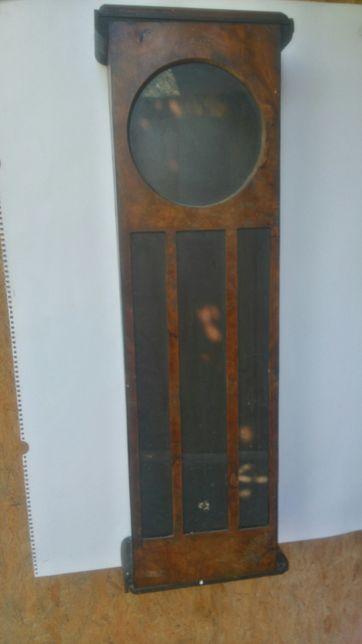 Stara skrzynia do zegara wagowego, żyłkowego
