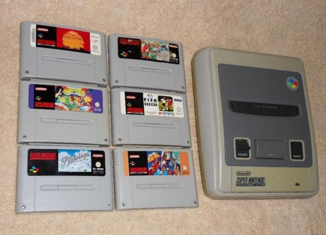 KONSOLA Super Nintendo z grami