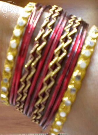 Conjunto de 12 pulseiras indianas