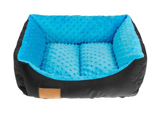 Legowisko 50x40cm kanapa dla psa kota YORK kojec niebieskie