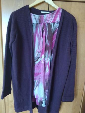 Sweter bordowy długi
