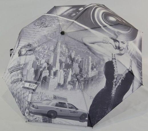 Женский зонт полуавтомат, антиветер