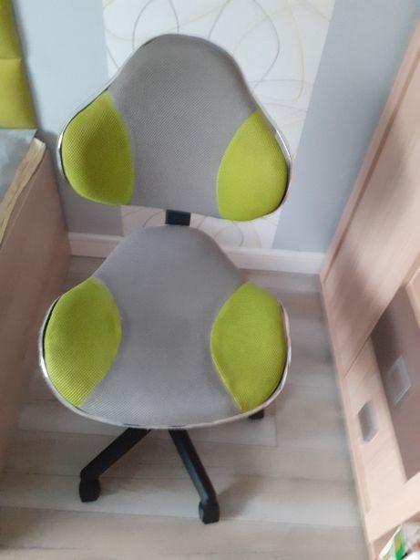 Fotel obrotowy Halmar szary limonka