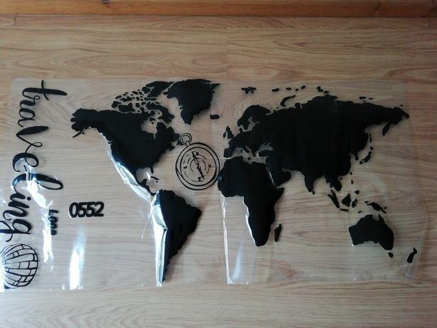 Mapa mundo autocolante