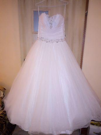 Piękna suknia ślubna, buty gratis