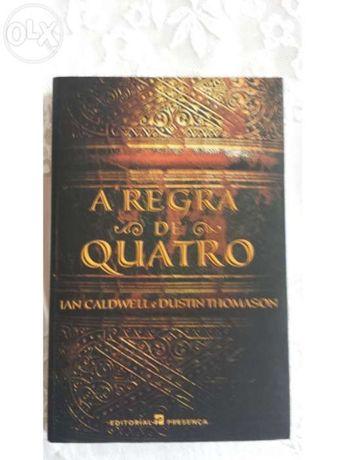 "Livro ""A Regra de Quatro"" de Ian Caldwell e Dustin Thomason"