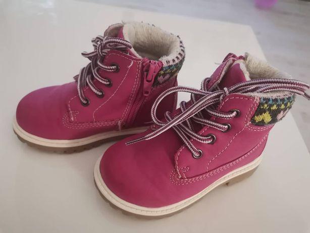 Piękne Traperki buty Jesienno zimowe