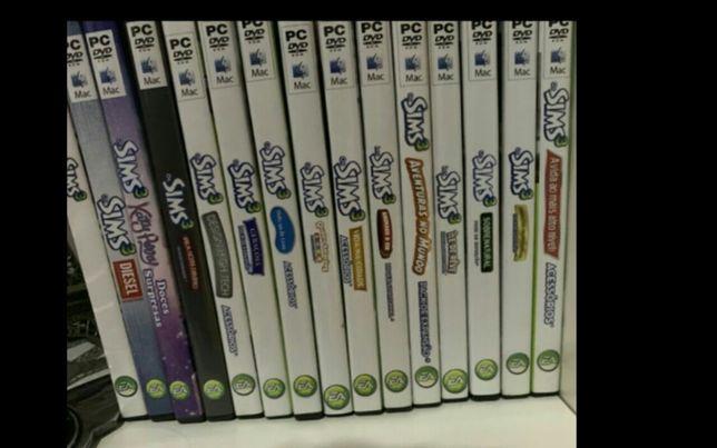 Coleção de 15 jogos sims 3 estão novos