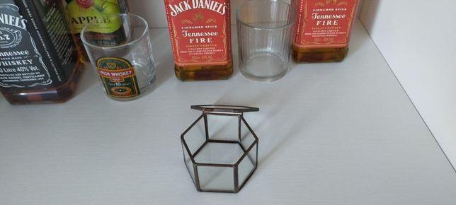 Szkatułka szklana na obrączki ślubne