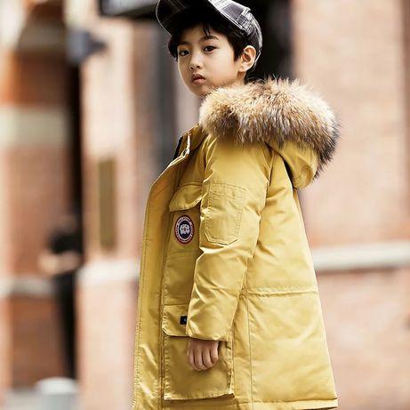 Детский пуховик 6-8 лет полупальто куртка