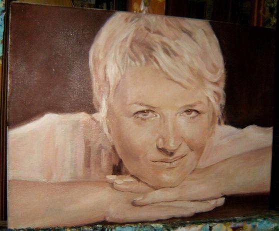 Portret olejny na podstawie zdjęcia