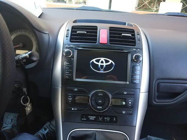 Auto Rádio Toyota Auris GPS Bluetooth DVD Android 2007 a 2013