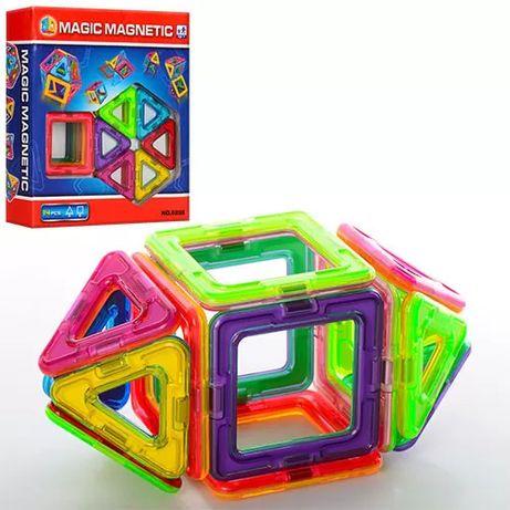 Магнитный конструктор 8, 12, 14, 27, 29, 40, 42 деталей