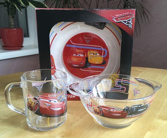 Набор детской посуды ОСЗ Disney Тачки 3 (3 предмета в коробке)