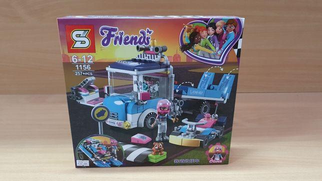 Конструктор для девочек Friends эвакуатор гоночных машин (257 деталей)