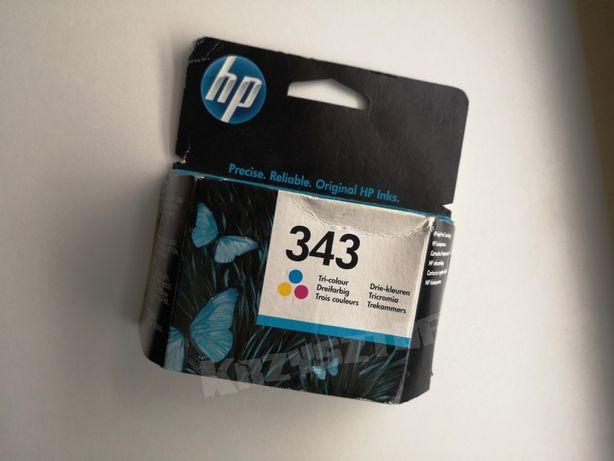 NOWY, Oryginalny Tusz do drukarki sym. HP 343 kolorowy, 7ml