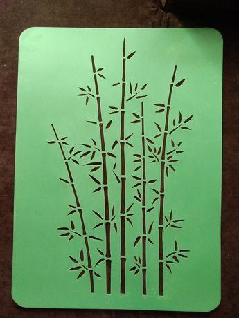 wielorazowy szablon malarski bambus
