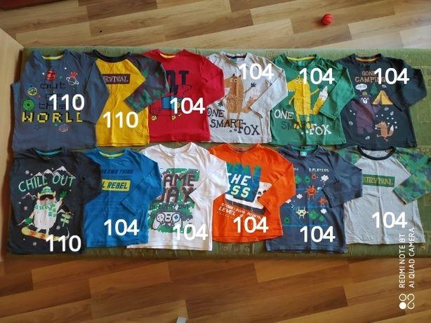 Mega paka 52 sztuki  dla chłopca 2 lata ubranka spodnie bluzy 104 110