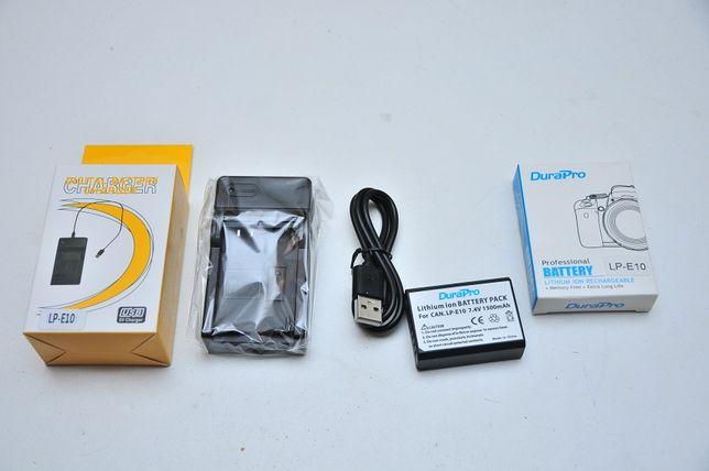 Набор 2 в 1 аккумулятор + Зарядка для Canon LP-E10 1100D 1200D 1300D