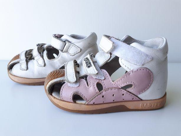 BUTY dla dziewczynki, sandały dla dziecka BARTEK skóra naturalna r. 21