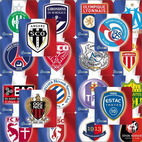"""Комплект магнитов """"Французская Лига 1"""" (20 штук)"""