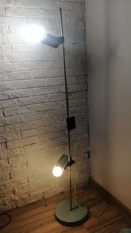 lampa podłogowa PRL vintage loft Pniewski-Rudkiewicz