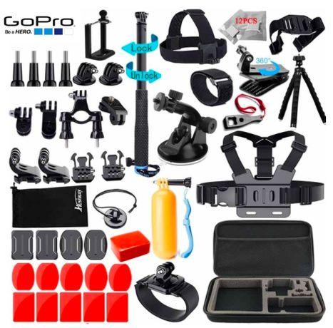 Zestaw 60 części AKCESORIA dla GoPro Hero 4 5 6 7 8 / SONY SJCAM OSMO