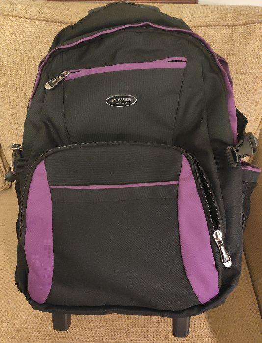 Duży plecak szkolny/wycieczkowy na kółkach z wysuwaną rączką Niekłonice - image 1