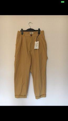 nowe beżowe spodnie cargo Pull&Bear r.XL