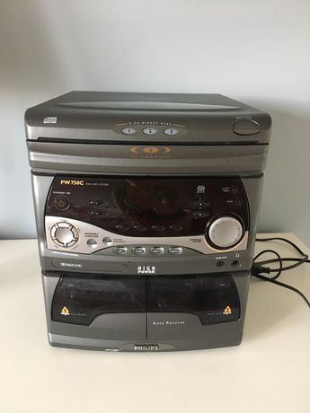 Wieża Philips  FW750C mini hifi system 3CD kasety