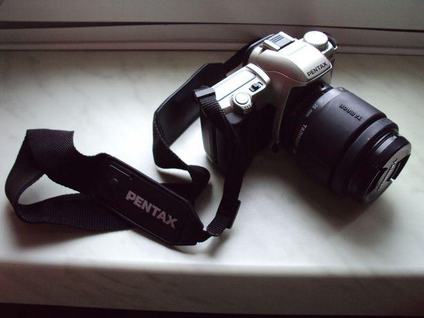 Lustrzanka aparat PENTAX MZ-50 i obiektyw TAMRON AF 28-80mm 1:3.5-5.6.