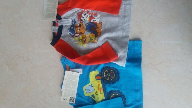 Nowy zestaw dwie bluzki koszulki Psi Patrol C&A 62 cm