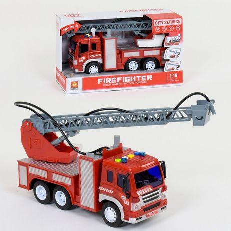 Пожарная машина WY 351 В с водяной помпой, брызгает водой, свет, звук