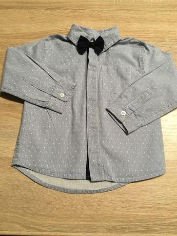 Elegancka koszula z muszką 5 10 15 rozmiar 86