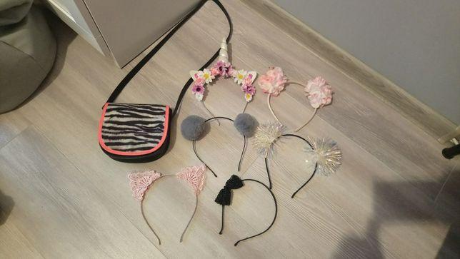 Torebka H&M plus zestaw opasek do włosów