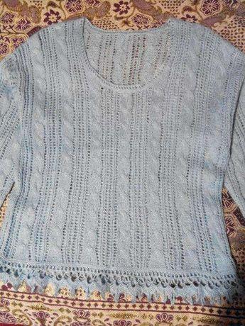Пуловер ручной работы