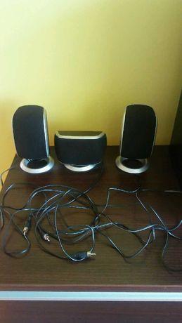 trzy głośniki komputerowe media-tech