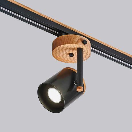 Трековые светильники из дерева, декоративные рейки для стен и потолка