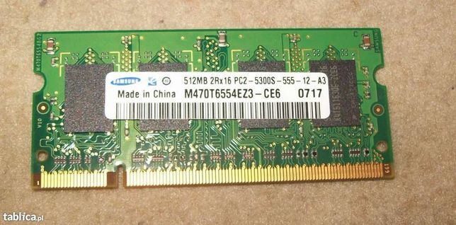 Pamięć do laptopa SO-DIMM 512MB RAM DDR2 PC5300