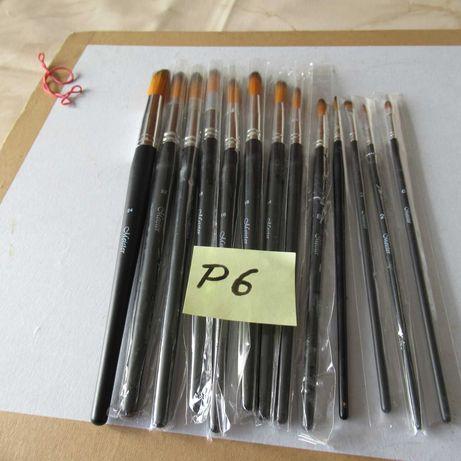 (P 6) 12 pinceis de qualidade p/ oleo e acrílico