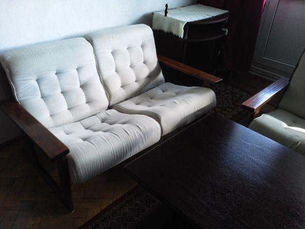 komplet: sofa 2os, fotel-KONTIKI PRL, w Starogardzie- transport gratis