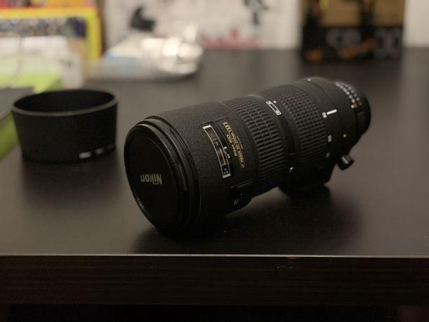 Lente Nikon 80-200mm f/2.8D ED + pára-sol Nikon HB-7