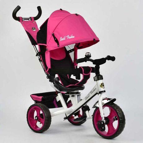Детский трёхколёсный велосипед B-Trike Розовый со звоночком, ровер