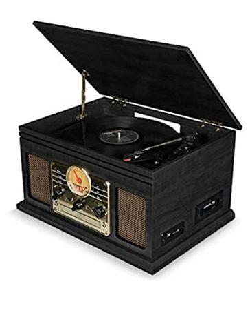 Gramofon z odtwarzaczem płyt LP/USB/CD i kasety/FM/karty SD