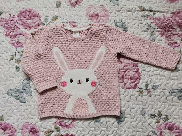 Sweterek H&M r. 86 królik